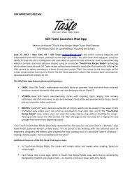 Gilt Taste iPad App Release – FINAL