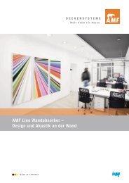 AMF Line Wandabsorber – Design und Akustik an der Wand