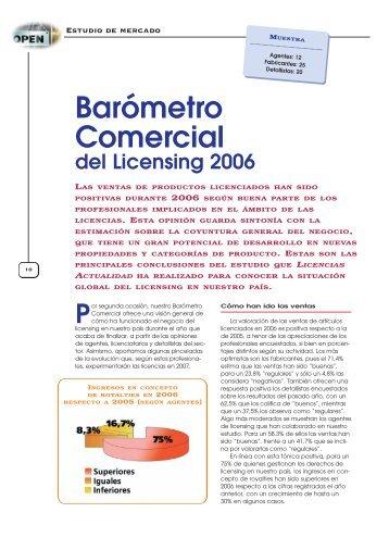 Barómetro Comercial - Licencias Actualidad