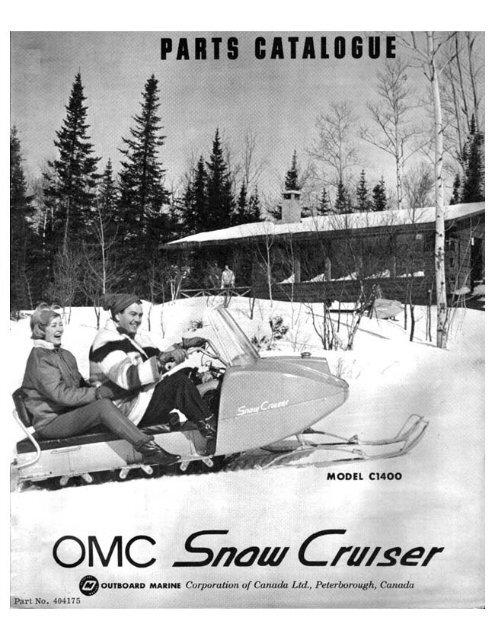 1965 SNOW CRUISER PARTS MANUAL - Vintage Snow