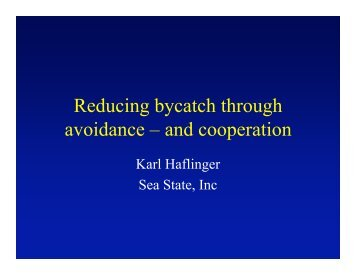 Karl Halfinger - Seafood Choices Alliance