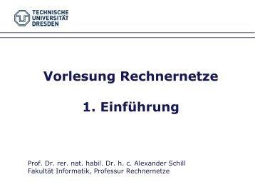 Rechnernetze Arbeitsblatt 1 Definitionen und Schichtenmodell - ZAIK