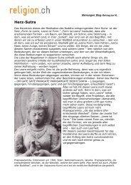 Weiterführender Beitrag zum Thema: Herz-Sutra - Religion CH