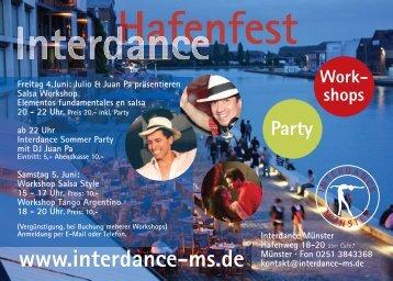 Flyer Hafenfest 20100507 - Interdance Münster