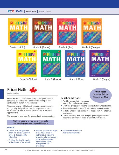 Prism Math Grades 1 Adult McGraw Hill Ryerson