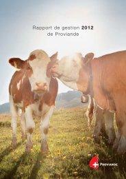 Rapport annuel 2012 - Schweizer Fleisch