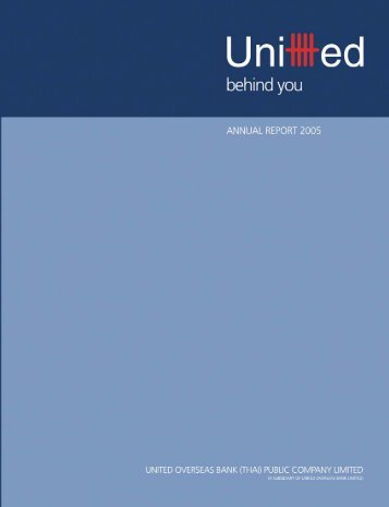 (Thai) Annual Report 2005 - United Overseas Bank