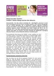 Medien-Information - Eine Welt Netz NRW