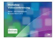 Workshop Videoconferencing - Belnet - Events
