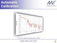 Automatic Calibration - AWE-Communications