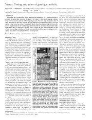 stratigraphy of Venus - Geology