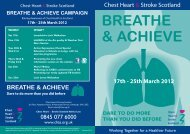 Breathe & Achieve Flyer - Chest Heart & Stroke Scotland