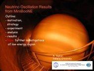 MiniBooNE Oscillation Result - BooNE - Fermilab