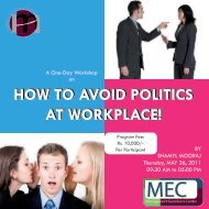How to Avoid Politics at Workplace - Institute of Business Management