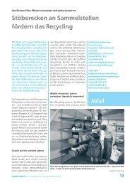 Stöberecken an Sammelstellen fördern das Recycling - Kanton Zürich