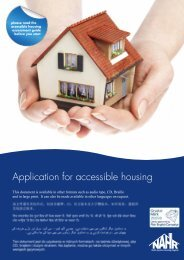 Accessible housing application form - Riverside