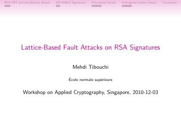 Lattice-Based Fault Attacks on RSA Signatures