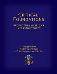 Protecting America's Infrastructures - Federation of American Scientists