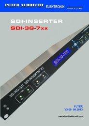 SDI-INSERTER SDI-3G-7xx - Peter Albrecht Elektronik GmbH & Co.KG