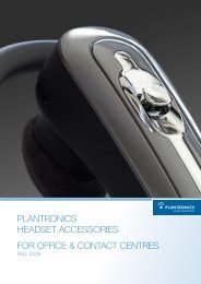 PLANTRONICS heAdSeT ACCeSSORIeS FOR OFFICe ...