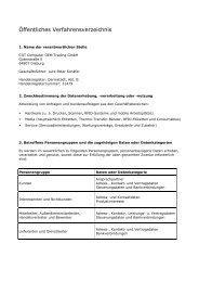 Öffentliches Verfahrensverzeichnis - COT