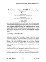 Performance analysis of LDPC Decoder using OpenMP - IJIET