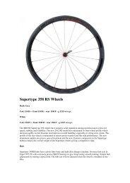 Supertype 358 RS Wheels - Pro Bike Center