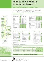 Radeln und Wandern im Zollernalbkreis - Veolia Transport