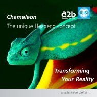 Transforming Your Reality The unique Headend concept Chameleon