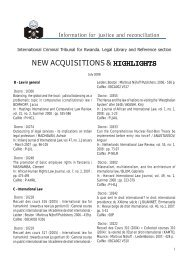new acquisitions & highlights - International Criminal Tribunal for ...