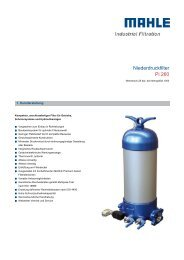Niederdruckfilter Pi 260 - MAHLE Industry
