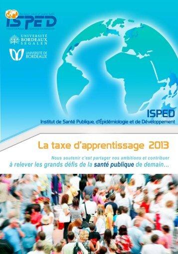 La taxe d'apprentissage 2013 - Isped - Université Bordeaux Segalen