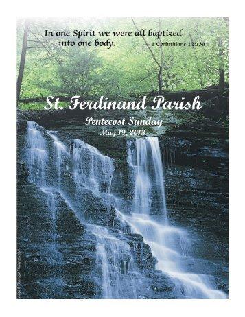 May 19 - St Ferdinand Parish