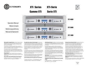 XTi Series Gamme XTi XTi-Serie Serie XTi