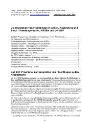 Die Integration von Flüchtlingen in Arbeit, Ausbildung und Beruf