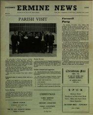 December - St. John the Baptist Parish Church. Ermine. Lincoln.