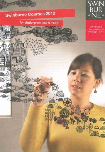 2010 Swinburne Undergraduate and TAFE Course Guide