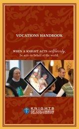 VOCATIONS HANDBOOK - Knights of Columbus, Supreme Council