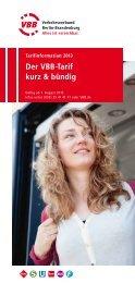 Der VBB-Tarif kurz & bündig - S-Bahn Berlin GmbH