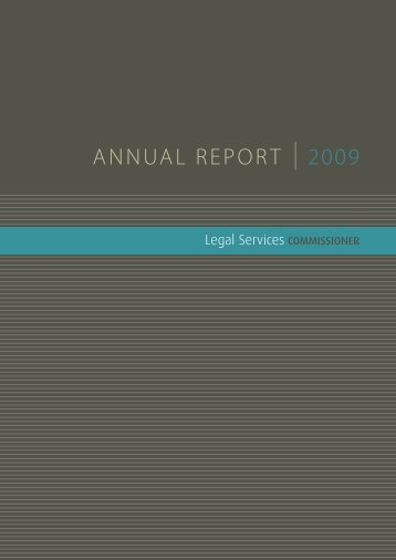 Annual Report 2008-09 - Legal Services Commissioner