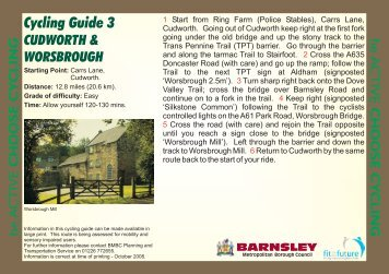 Cycling Guide 3 - Barnsley Council Online