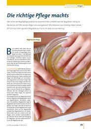 Nägel - Die richtige Pflege machts - Die PTA in der Apotheke