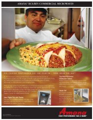 amana® rcs/rfs commercial microwaves - Globe Equipment