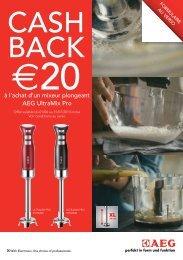 AEG vous rembourse €20 sur votre Ultramix Pro mixeur ... - Exellent