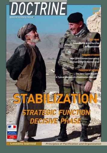 Stabilization Strategic Function Decisive Phase - Integrated Defence ...