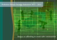 Strategy Statement 2012 – 2014 - The Probation Service