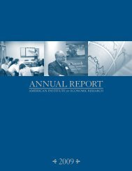 AnnuAl RepoRt - American Institute for Economic Research