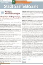 Amtsblatt Nummer 2013/12 - Saalfeld