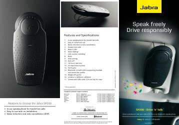 Jabra sp200 Datasheet(PDF) - RTB Technology
