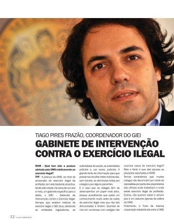 Gabinete de intervenção contra o exercício ilegal - Ordem dos ...